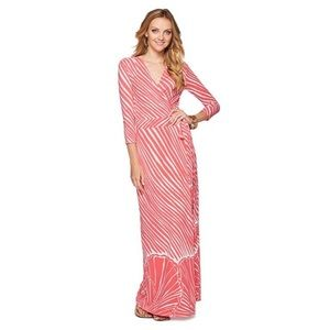 Lilly Pulitzer Adrina Wrap Maxi Dress